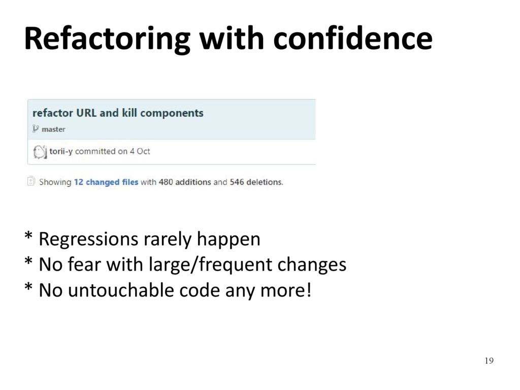19 Refactoring with confidence * Regressions ra...