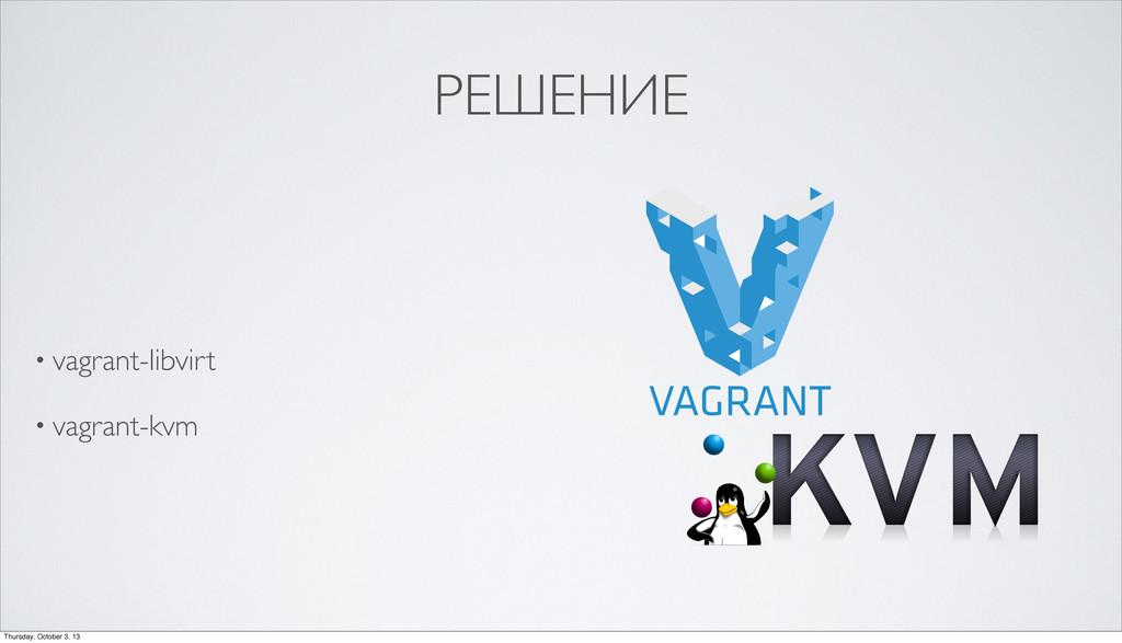 РЕШЕНИЕ • vagrant-libvirt • vagrant-kvm Thursda...