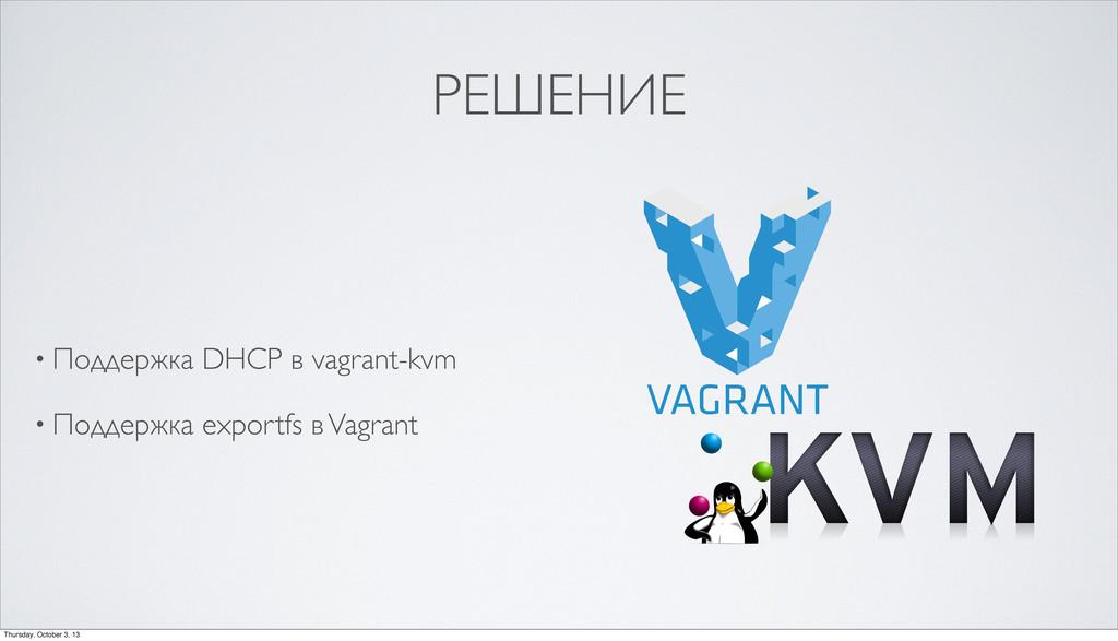 РЕШЕНИЕ • Поддержка DHCP в vagrant-kvm • Поддер...
