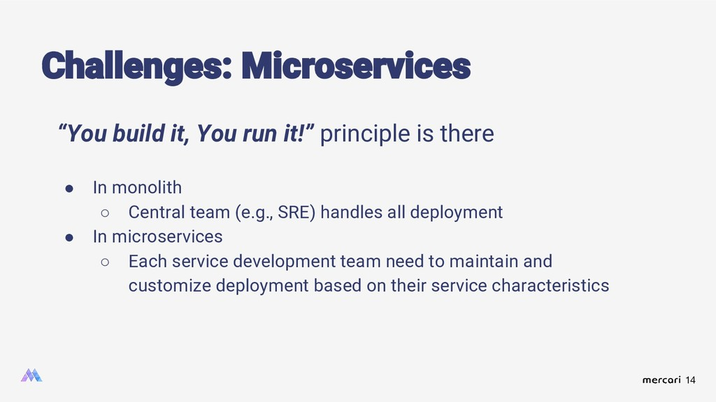 """14 Challenges: Microservices """"You build it, You..."""