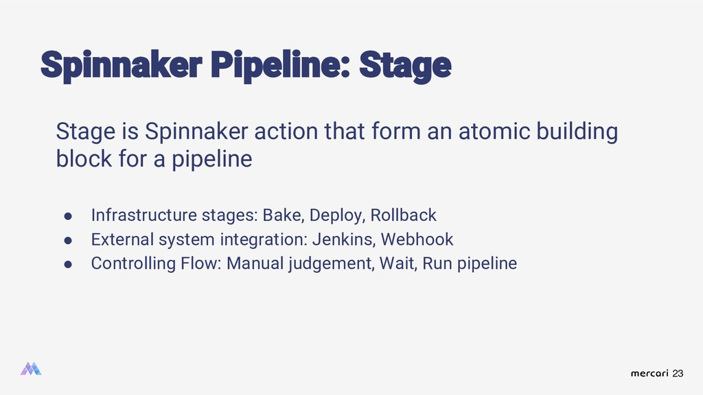 23 Stage is Spinnaker action that form an atomi...