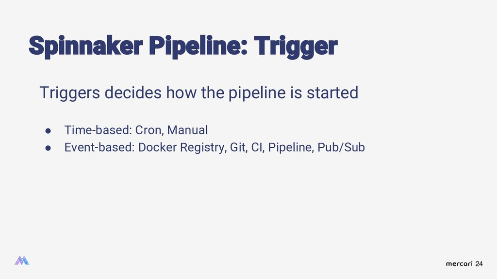 24 Triggers decides how the pipeline is started...