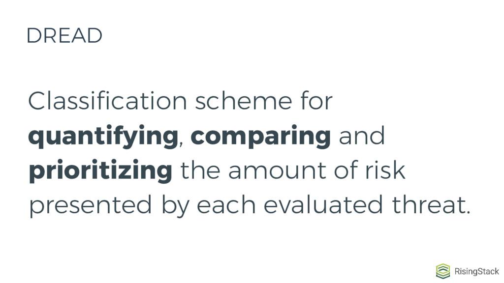 Classification scheme for quantifying, comparin...