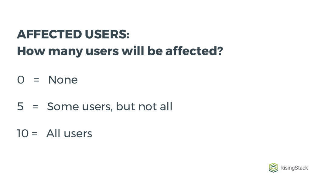 AFFECTED USERS: How many users will be affected...