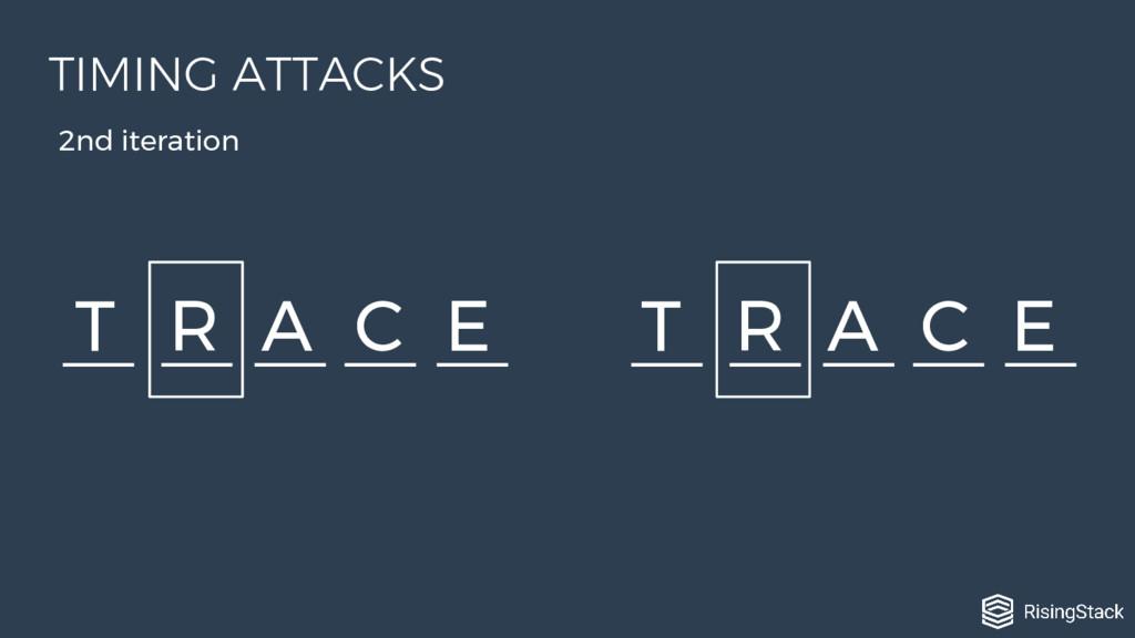 T R A C E T R A C E 2nd iteration TIMING ATTACKS
