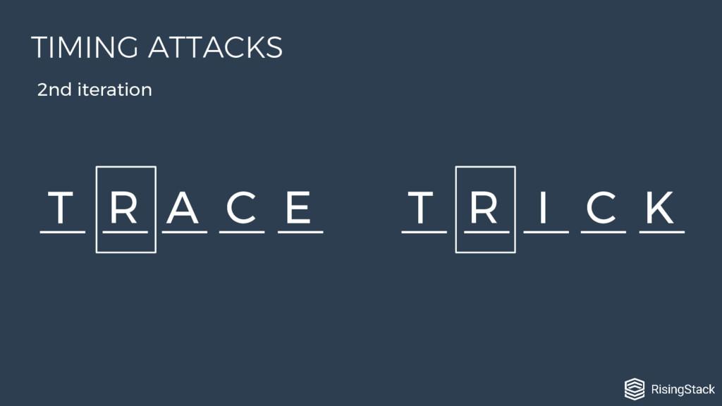 T R A C E T R I C K 2nd iteration TIMING ATTACKS