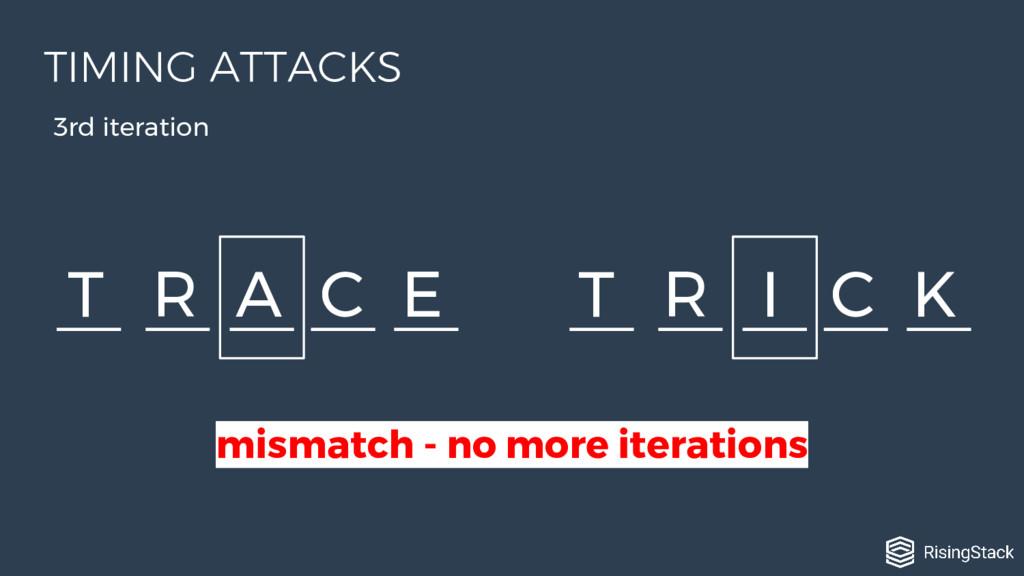 T R A C E T R I C K 3rd iteration mismatch - no...