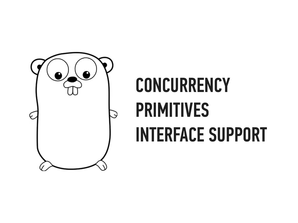 CONCURRENCY PRIMITIVES INTERFACE SUPPORT