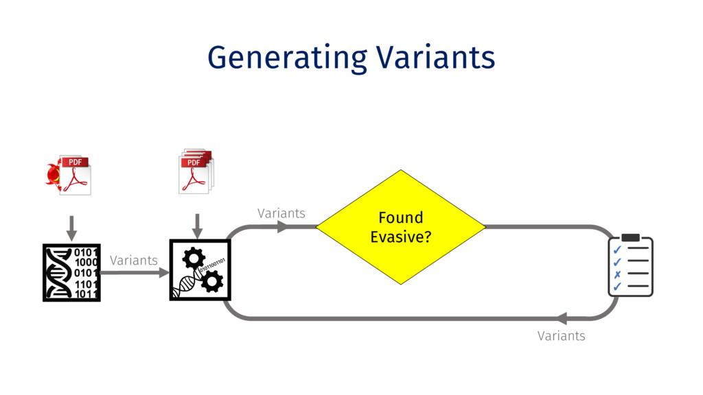 Variants Generating Variants Clone Benign PDFs ...