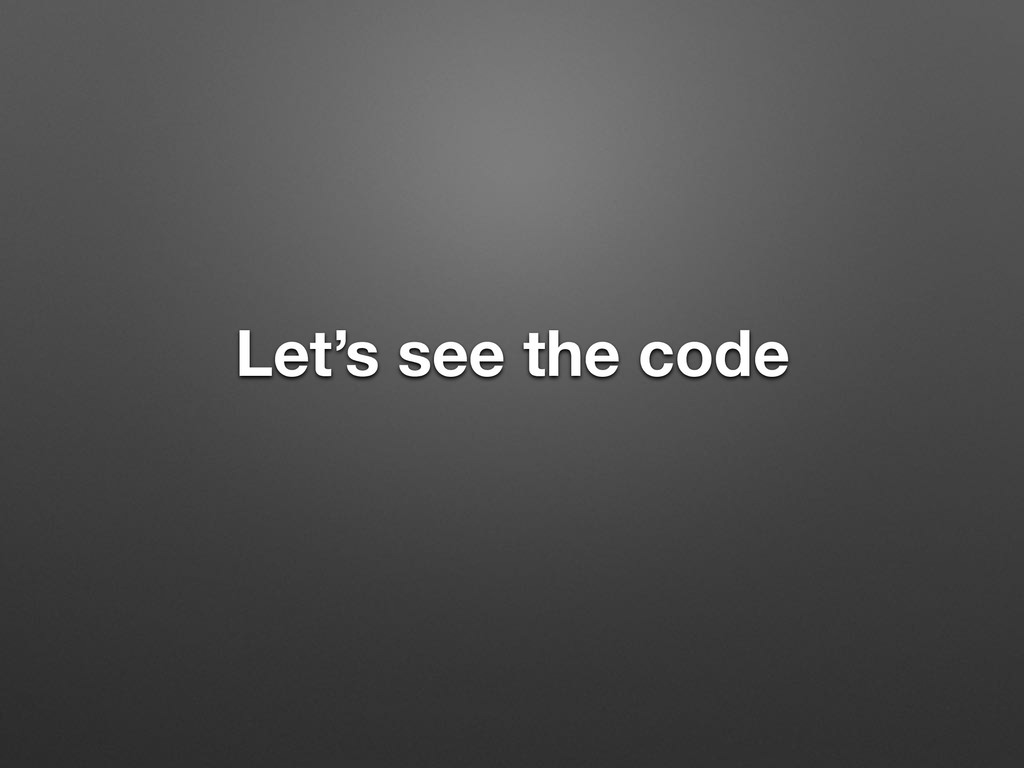 Let's see the code