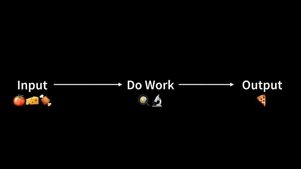 Do Work Output Input