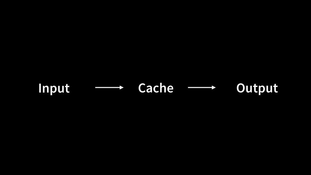 Cache Output Input