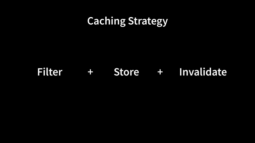 Store Filter Invalidate Caching Strategy + +