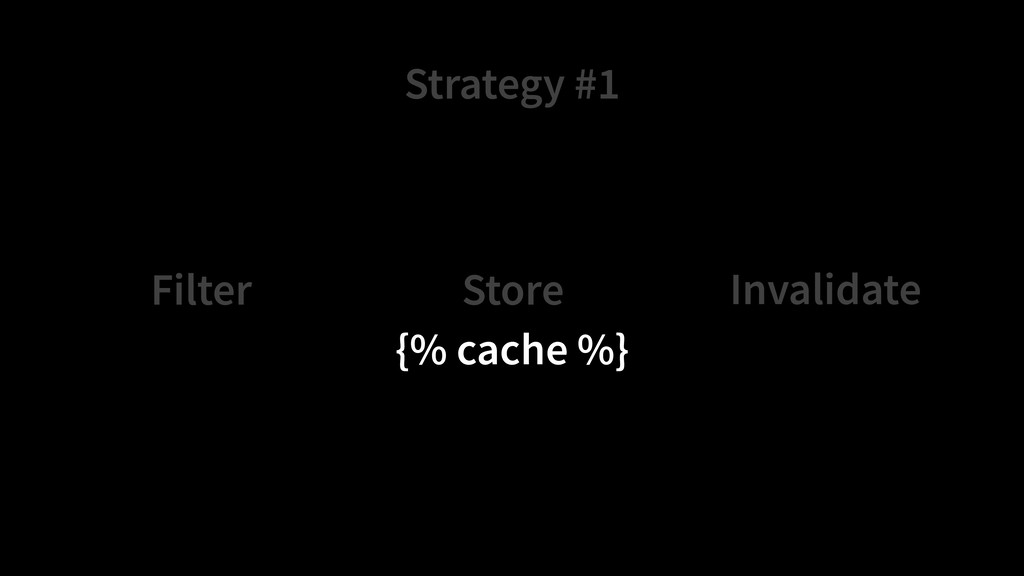 Strategy #1 Store Filter Invalidate {% cache %}