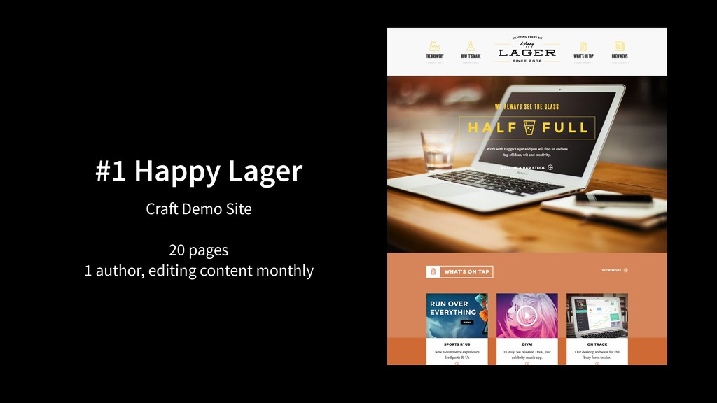 #1 Happy Lager Craft Demo Site 20 pages 1 autho...