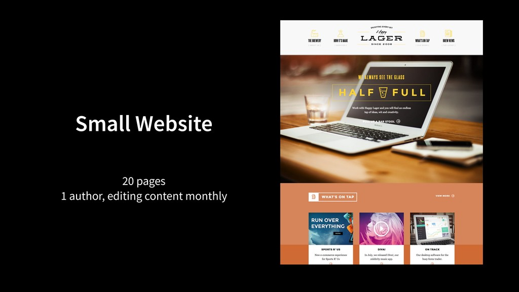 Small Website 20 pages 1 author, editing conten...