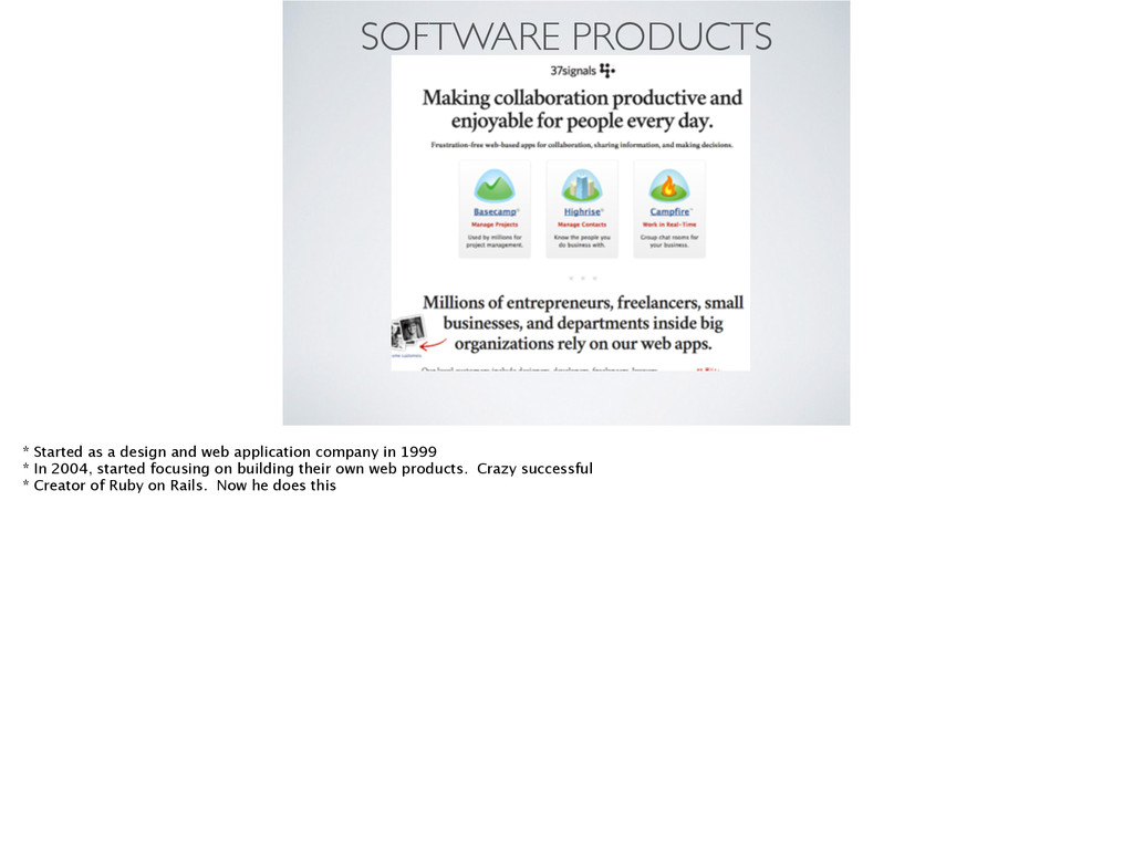 SOFTWARE PRODUCTS * Started as a design and web...