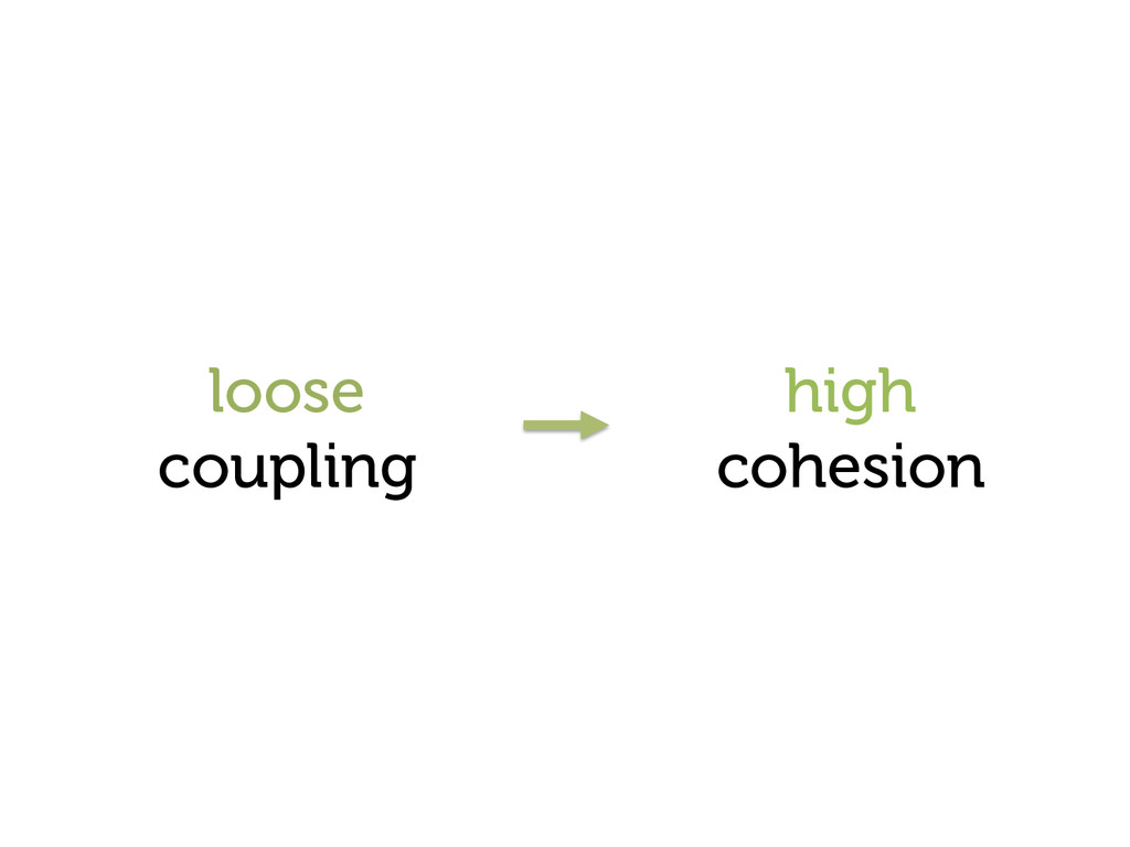 loose coupling high cohesion