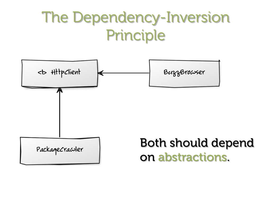 The Dependency-Inversion Principle Both should ...
