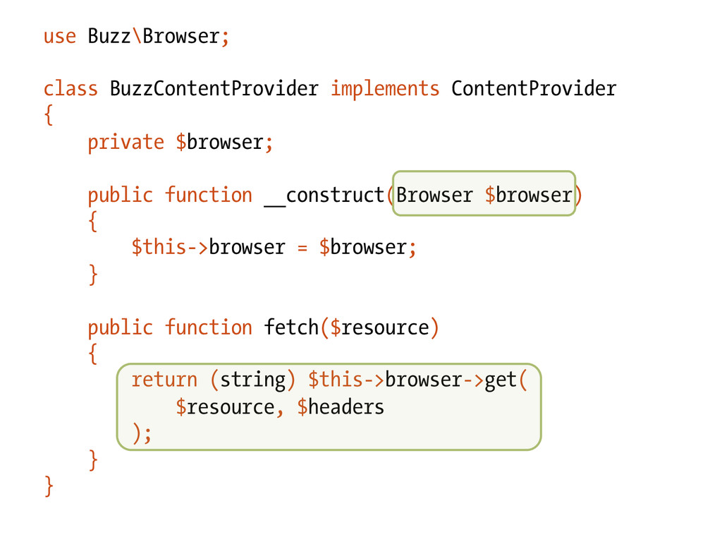 use Buzz\Browser; class BuzzContentProvider imp...