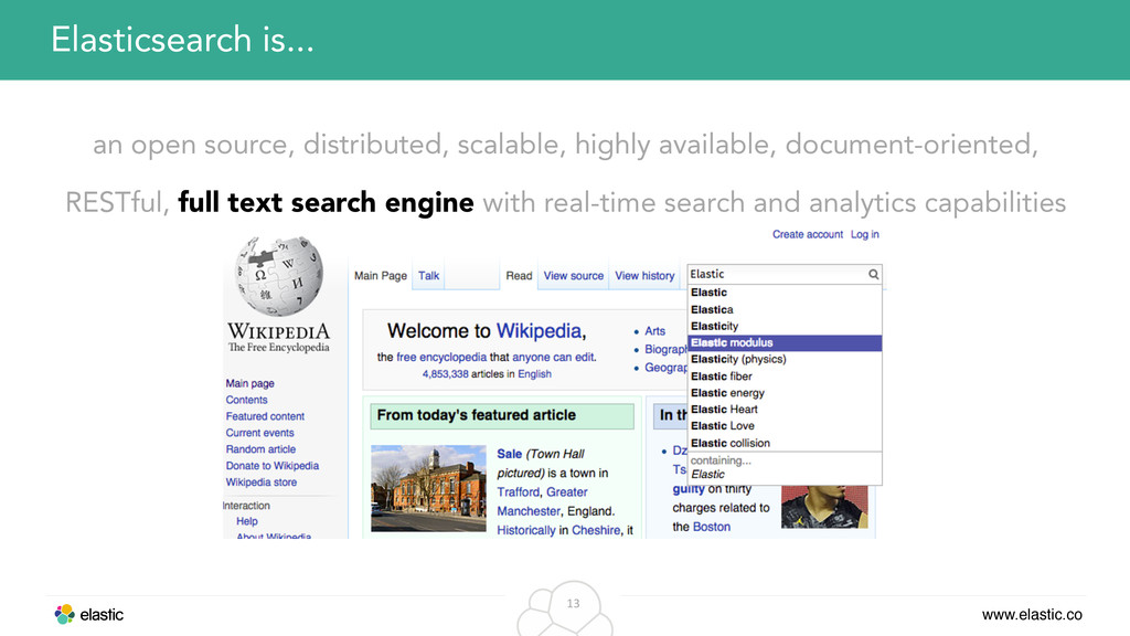 www.elastic.co 13 an open source, distributed, ...