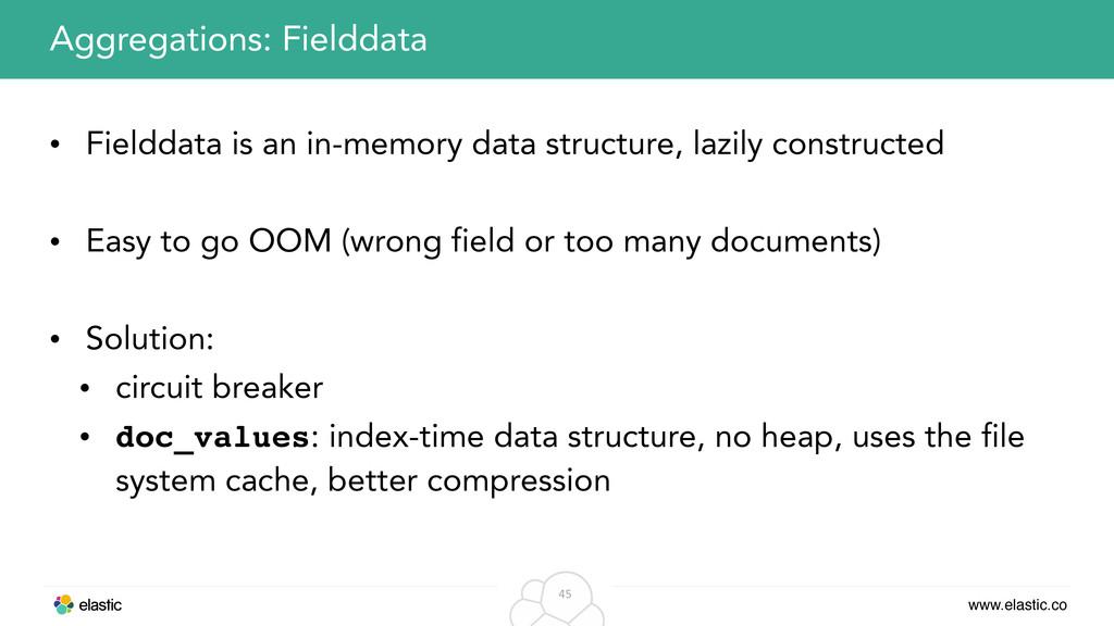 www.elastic.co 45 • Fielddata is an in-memory d...