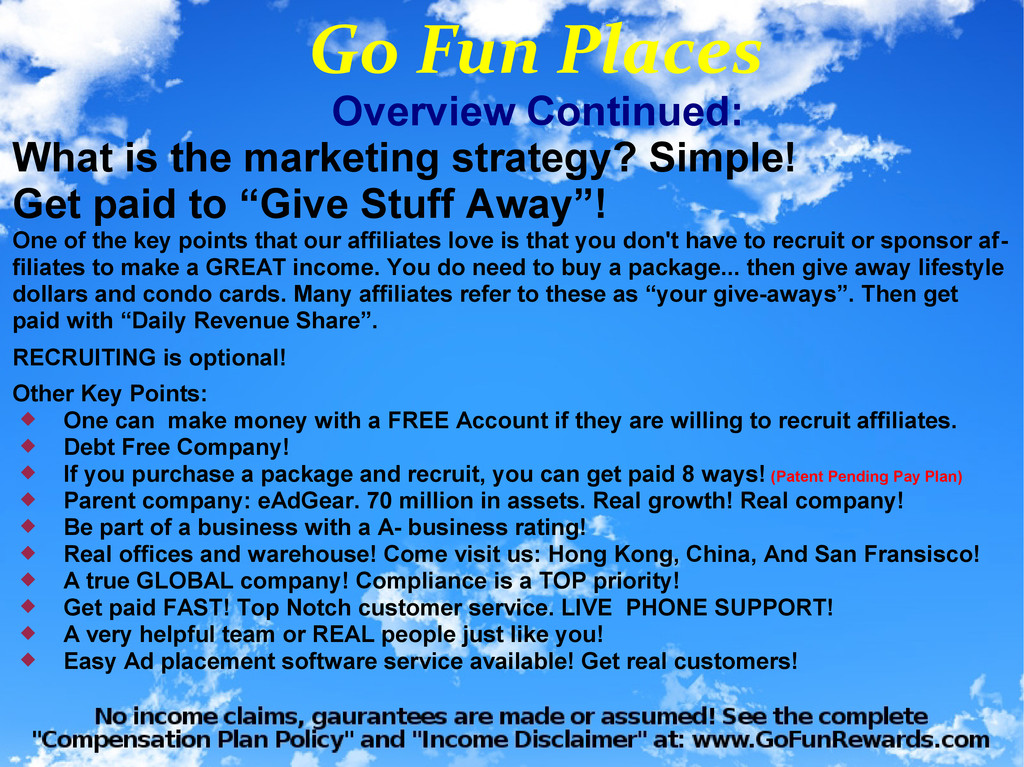 Overview Continued: What is the marketing strat...