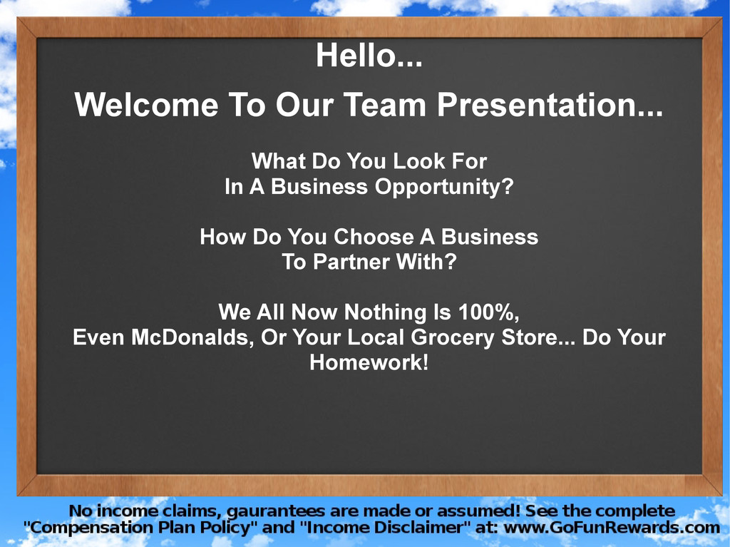 Hello... Welcome To Our Team Presentation... Wh...
