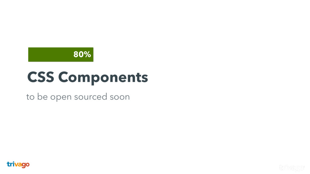 CSS Components to be open sourced soon 80%