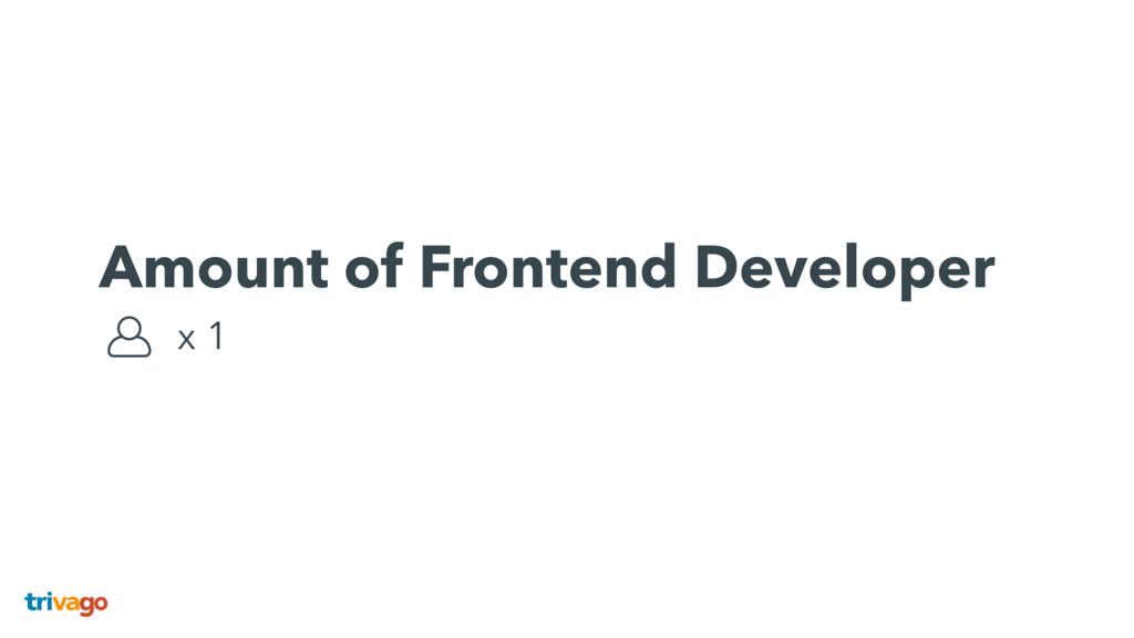 Amount of Frontend Developer x 1