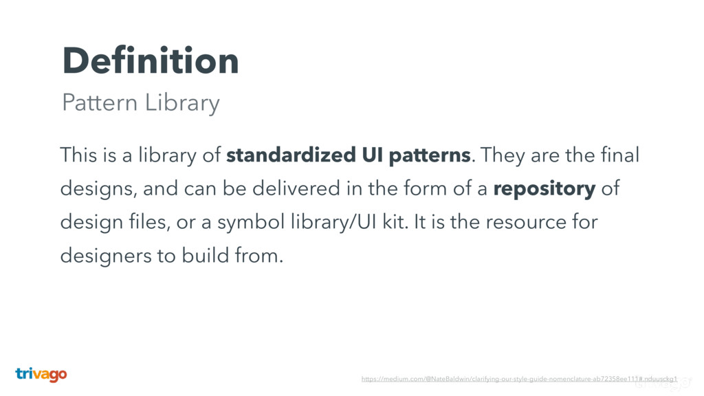 Definition Pattern Library This is a library of...