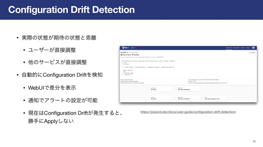 Configuration Drift Detection 26 https://pipecd...