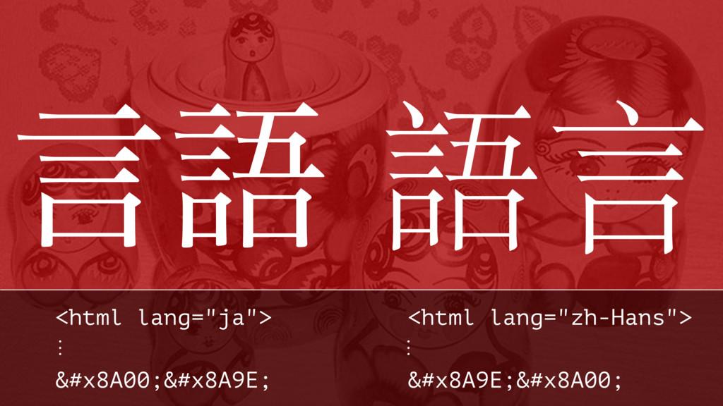 """ݴޠ 語⾔言 <html lang=""""ja""""> <html lang=""""zh-Hans""""> ⋮..."""