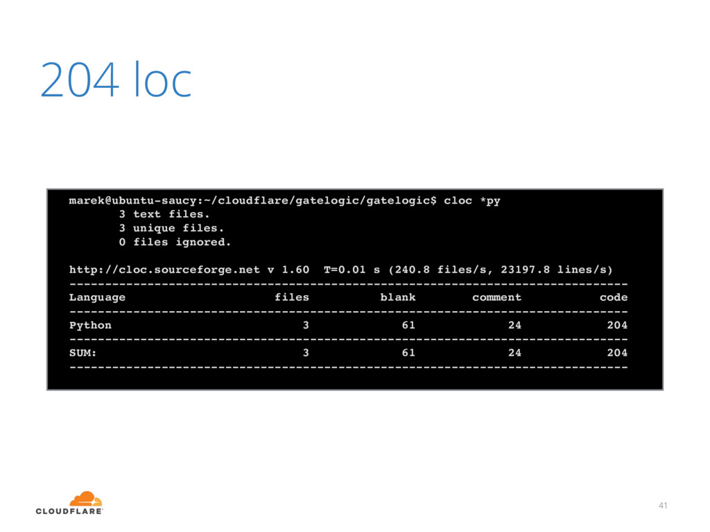 204 loc 41 marek@ubuntu-saucy:~/cloudflare/gate...