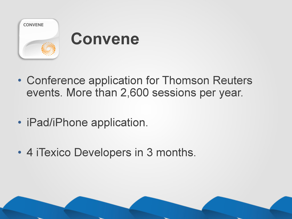 Convene •  Conference application for Thomson R...