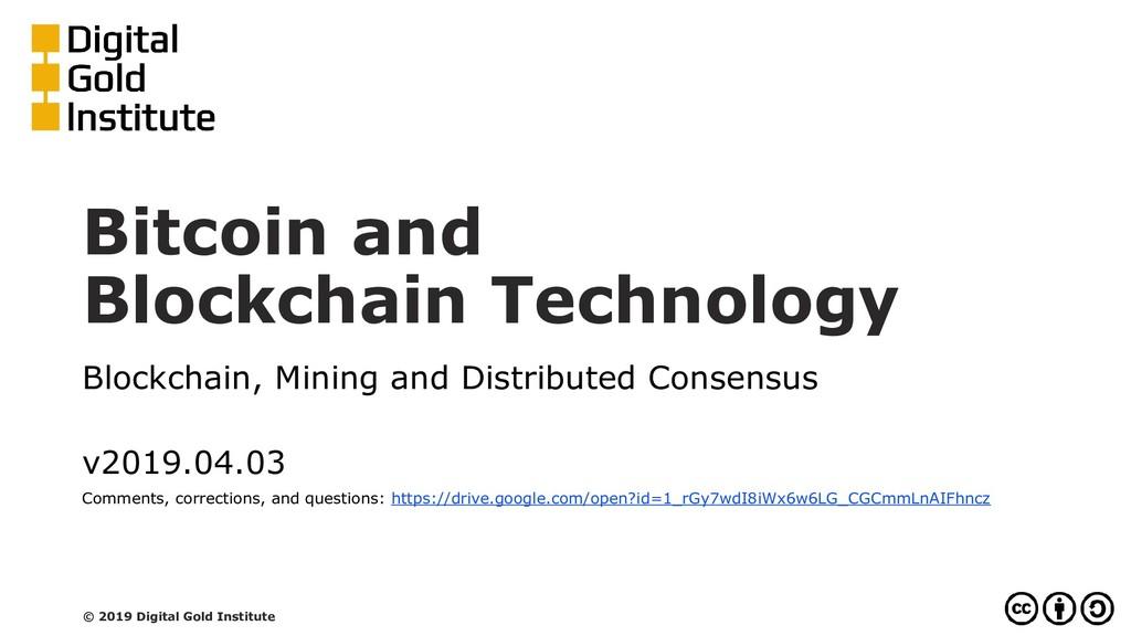 Bitcoin and Blockchain Technology Blockchain, M...
