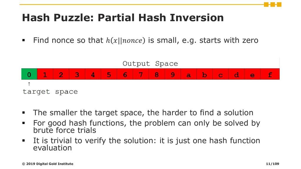 Hash Puzzle: Partial Hash Inversion ▪ Find nonc...