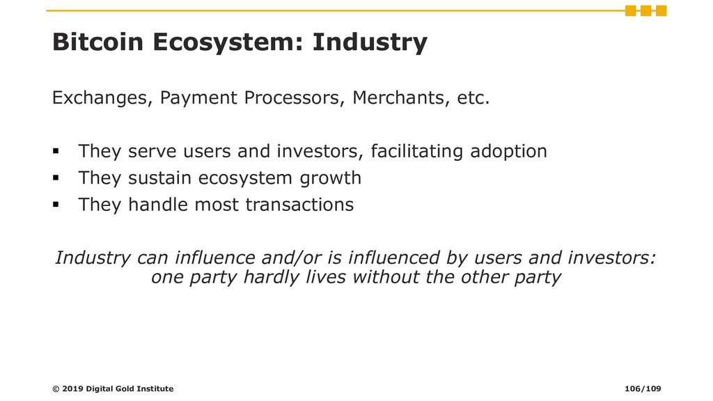 Bitcoin Ecosystem: Industry Exchanges, Payment ...