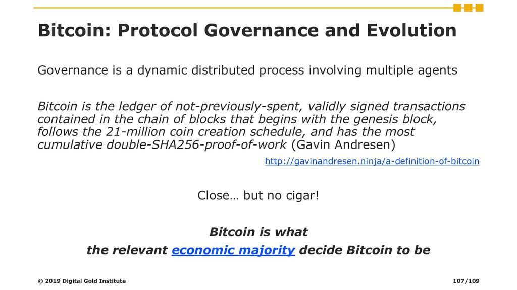 Bitcoin: Protocol Governance and Evolution Gove...