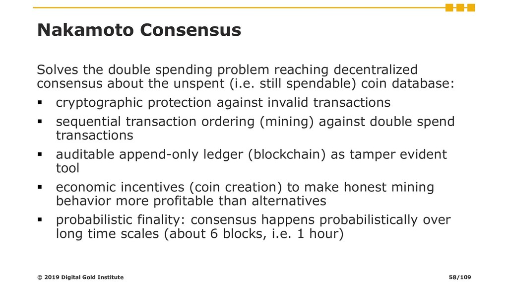 Nakamoto Consensus Solves the double spending p...