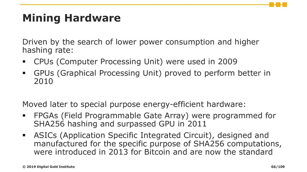 Mining Hardware Driven by the search of lower p...