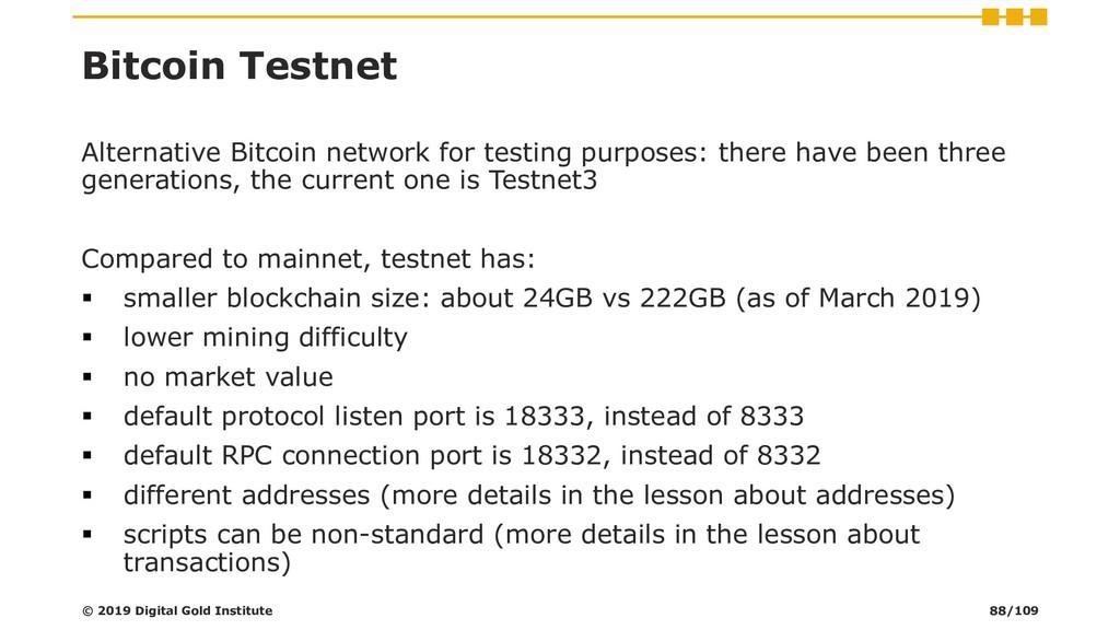 Bitcoin Testnet Alternative Bitcoin network for...