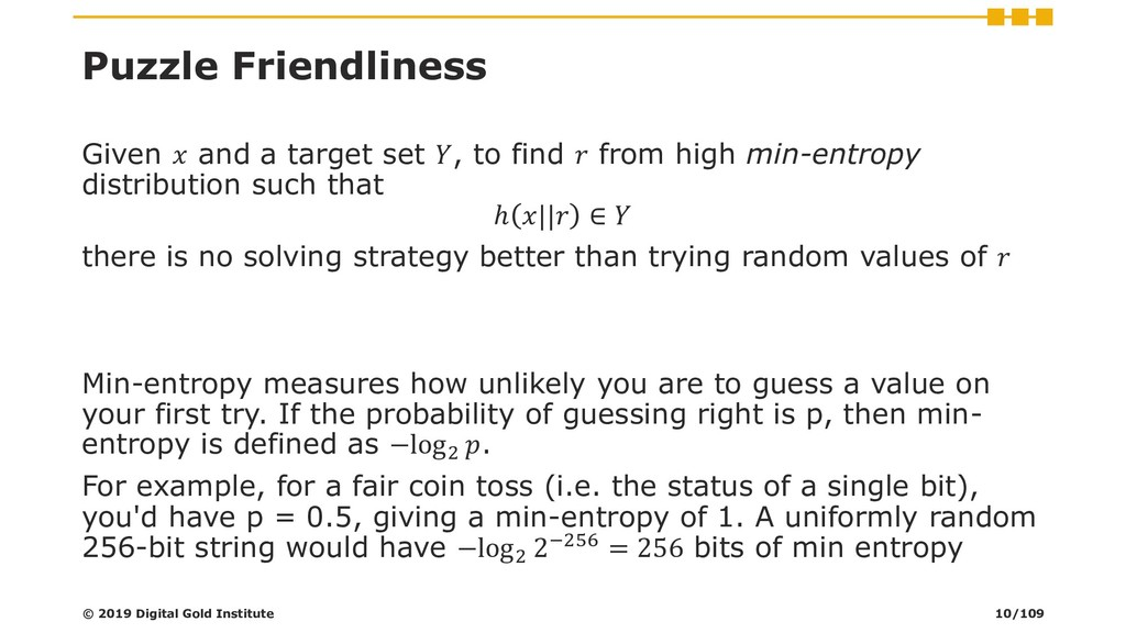 Puzzle Friendliness Given  and a target set , t...