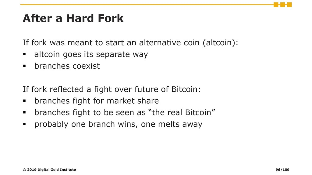 After a Hard Fork If fork was meant to start an...