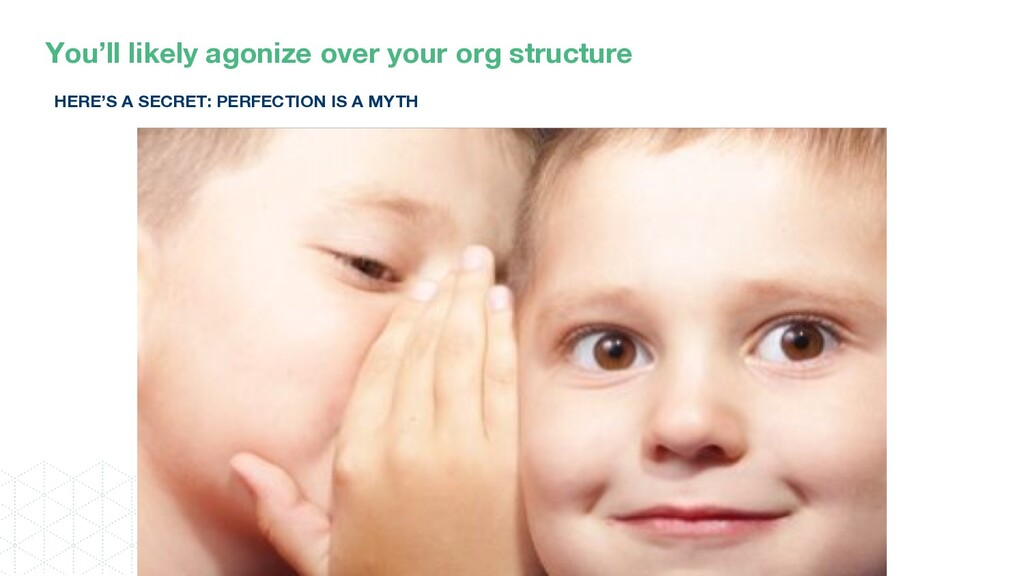 You'll likely agonize over your org structure H...