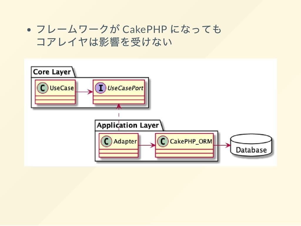 フレームワークが CakePHP になっても コアレイヤは影響を受けない