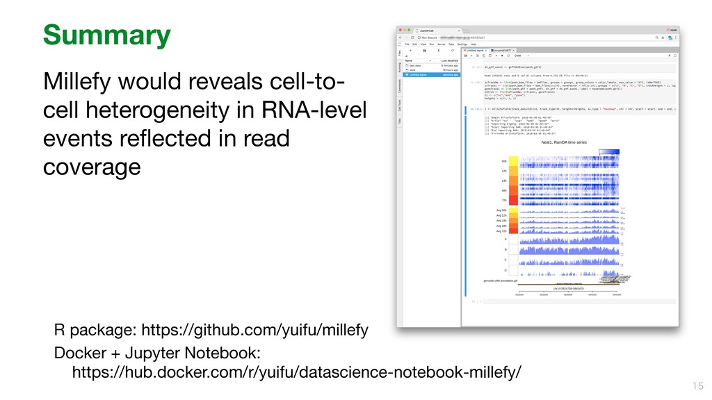 Summary Millefy would reveals cell-to- cell het...