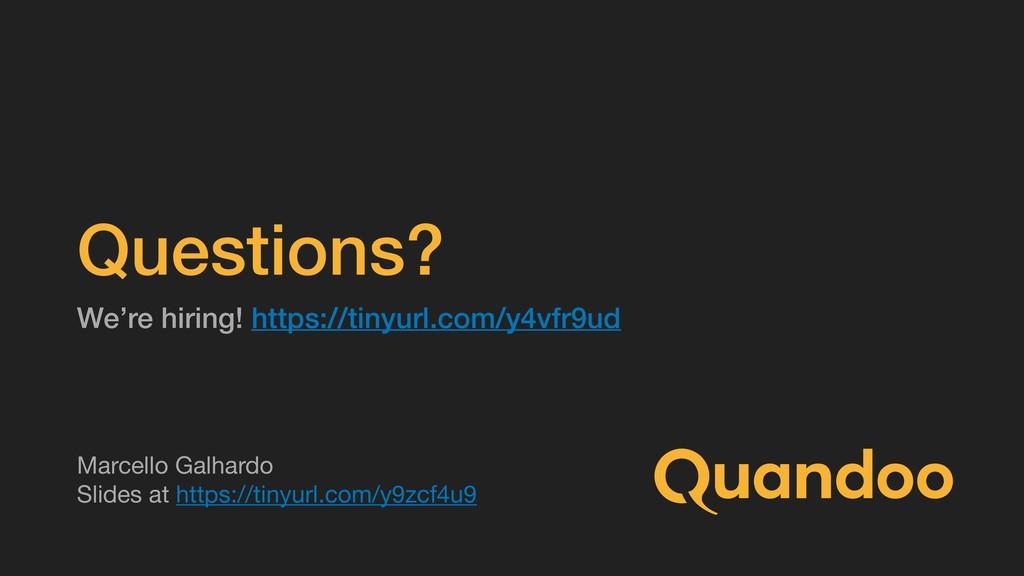 Questions? We're hiring! https://tinyurl.com/y4...