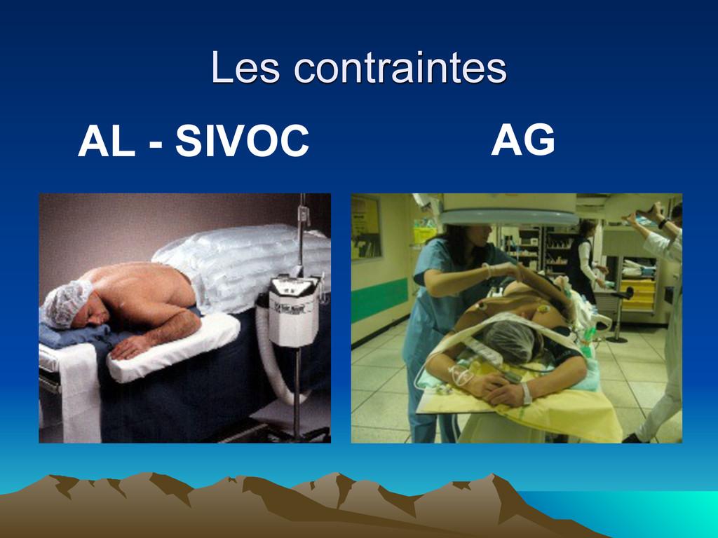 Les contraintes AL - SIVOC AG