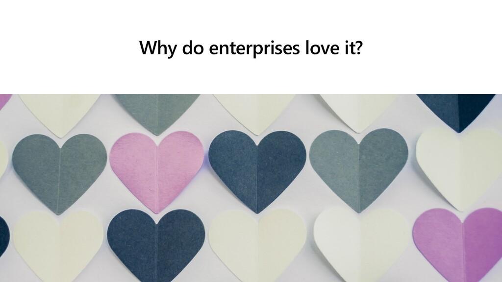 Why do enterprises love it?